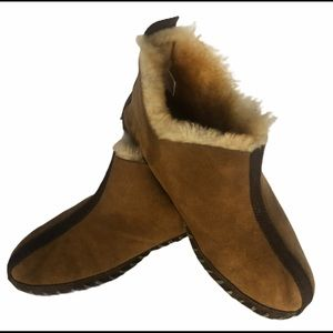 Cabelas Shearling Lined Leather Moccasin Women 10M